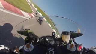 Portimao onboard Kawasaki ZX6RR 12/04/2014 no limits european trackdays