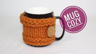 How to Loom Knit an Easy Mug Cozy (DIY Tutorial)