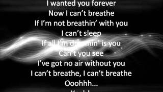 Cant Breathe by Fefe Dobson with lyrics on screen and description