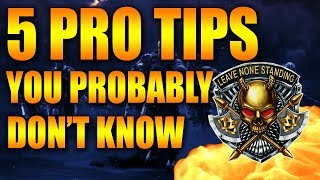 TOP 5 PRO BLACKOUT TIPS YOU PROBABLY DON'T KNOW Black Ops 4 Blackout How To Win