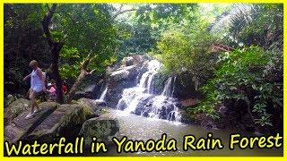 Waterfall in Yanoda Rain Forest. Hainan, China. Hunan China travel 2020