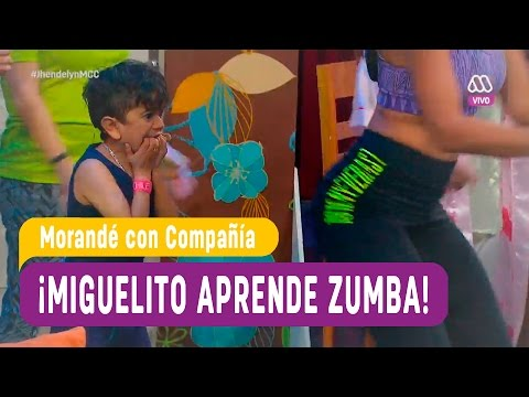 Miguelito aprende zumba con sensual instructora - Morande con Compañia 2016