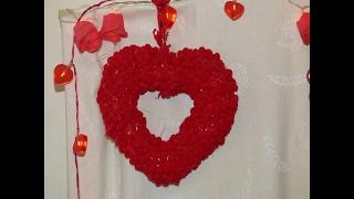 how to make a heart shaped wreath form - मुफ्त ऑनलाइन