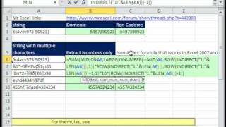 Excel Magic Trick 489: Extract Only Numbers From Text String Array Formula