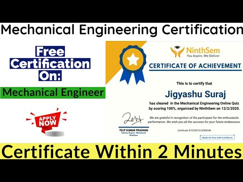 Mechanical Engineering Free Courses With Certificate ... - YouTube