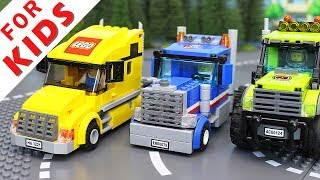 LEGO Experemental Cars and Trucks Compilation. Lego Stop Motion Animation