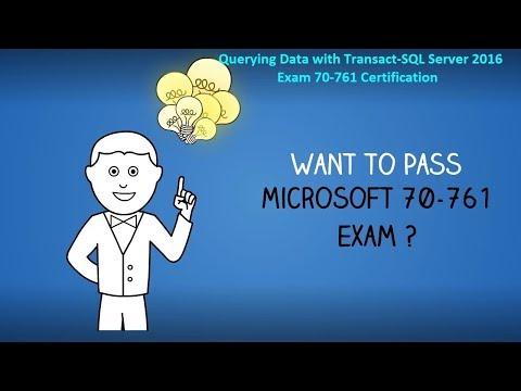 Querying Data with Transact-SQL Server 2016, Exam 70-761 ...