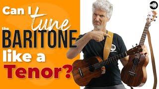 Can I tune a Baritone ukulele like a tenor ukulele? FIND OUT here!!🤔👍