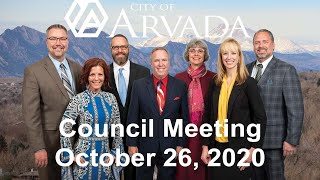 Preview image of Arvada City Council Meeting - October 26, 2020