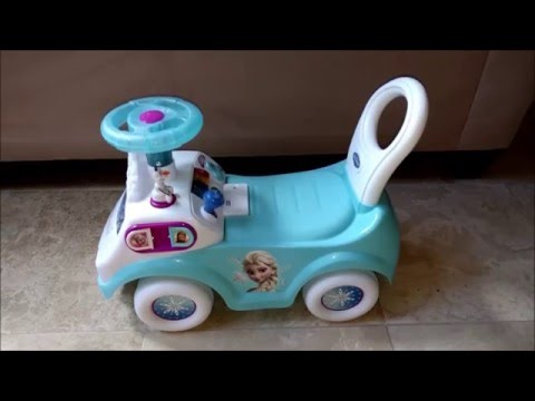 Kiddieland Frozen Push and Activity Ride On Toy Review