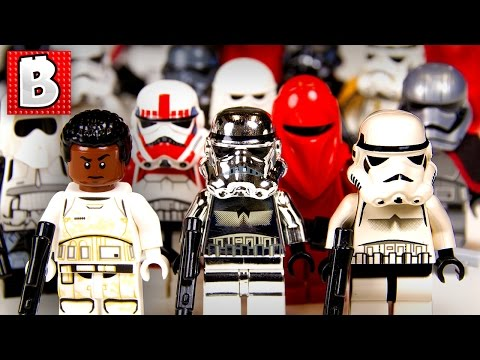 Every Lego Stormtrooper Minifigure Ever!!! + Rare Chrome Trooper! | Collection Review