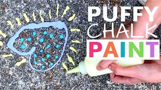 Make Puffy Sidewalk Chalk Paint With Just 4 Ingredients