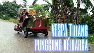 SOSOK | VESPA TULANG PUNGGUNG KELUARGA | SCOOTER DRAGNET SPIDER SAMARINDA