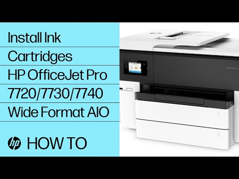 How to install ink cartridges in the HP OfficeJet Pro 7720/7730/7740 Wide Format All-in-One printer series.