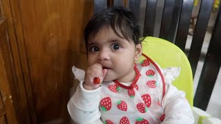 SOLID FOOD Day 1 || First Day of Baby Led Weaning India