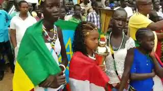 An Ethiopian Nuer Cultural Show During A National Cup Tour In Itang Woreda - Gambella