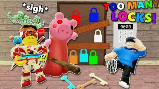 ROBLOX IMPOSSIBLE PIGGY MAP?! There Are TOO MANY LOCKS!!   Piggy Fangame