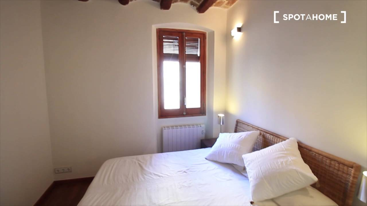 Renovated 2-bedroom apartment with AC and terrace for rent - El Raval