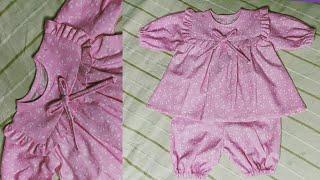 New born baby dress cutting and stitching