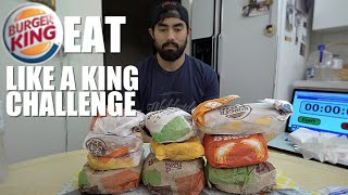 BURGER KING EAT LIKE A KING CHALLENGE | 5,533 CALORIES - Video Youtube