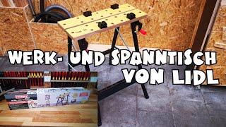 Lidl - Powerfix Werk- und Spanntisch aufgebaut - Werkbank