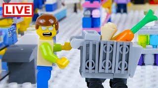 LEGO City Shopping Fail LIVE 🔴 STOP MOTION LEGO City Shopping Fail   LEGO City   By Billy Bricks