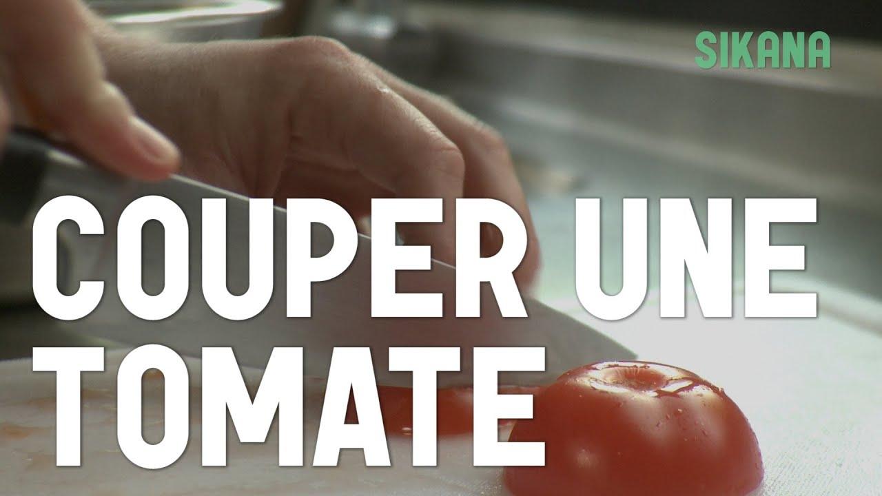 Couper une tomate apprendre cuisiner les l gumes sikana - Cuisiner les tomates sechees ...