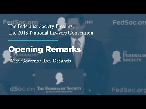 Opening Remarks [2019 National Lawyers Convention]