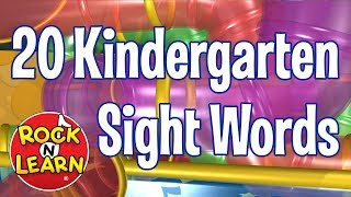20 Sight Words For Kindergarten