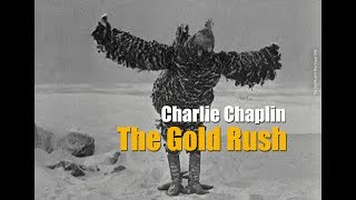 Charlie Chaplin transforms into a chicken .The Gold Rush