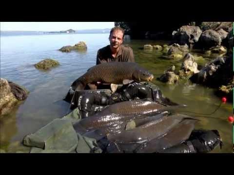Faccia pressione su un barometro su pesca