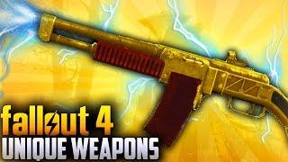 Fallout 4 Rare Weapons - TOP 10 Far Harbor DLC Unique & Secret weapons