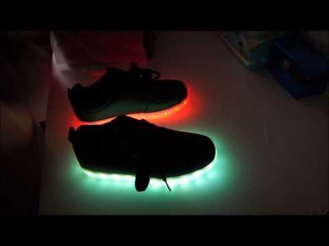 LED leucht Schuhe# auspacken erster eindruck und vorstellung 2016