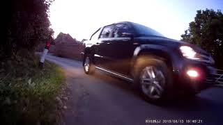 Near miss motorbike accident captured with INNOVV K2