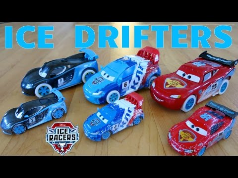 NEW DISNEY PIXAR CARS ICE RACERS DRIFTERS DRIFTING ACTION RACE LIGHTNING MCQUEEN TOYS