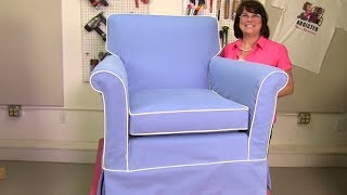 How To Slipcover An Attached Pillow Back Club Chair