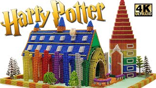DIY Cara Membangun Harry Potter Hogwarts Aula Besar Dari Bola Magnet (Kepuasan) Magnet World 4K