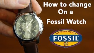 How To Set The Time And Chronograph On A Fossil Watch