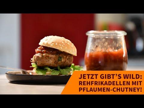 wildrezept: Jetzt gibt's Wild: Reh-Burger mit Pflaumen-Chutney − Rezepte und ein Kochvideo mit Tipps und Tricks vom Profi