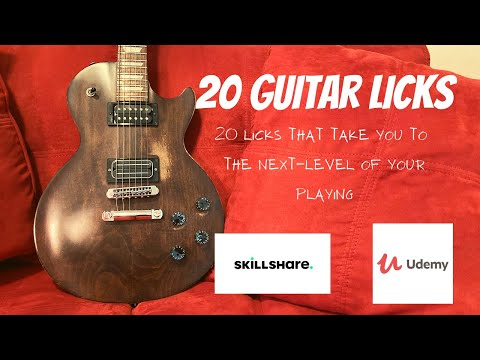 """Check out my Online Guitar Course """"20 Guitar Licks""""!"""