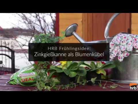 HRB Frühlingsidee - Zink Gießkanne als Blumenkübel
