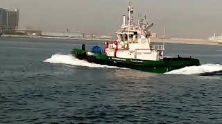 FIRST LNG DUEL FUEL HARBOUR TUG IN THE MIDDILE EAST, BUILT BY DUBAI DRY DOCKS.