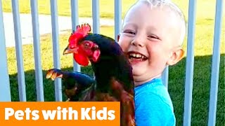 Funniest Kids and Animals | Funny Pet Videos