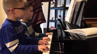 Jake and Alex Roach playing The Hallelujah Chorus (from Messiah) by Handel. Arranged by Carol Matz.
