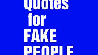 Quotes About Fake People  Quotation Notation 