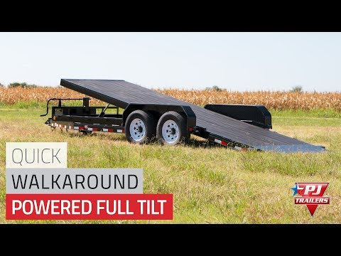 2021 PJ Trailers Powered Full Tilt (TF) 18 ft. in Elk Grove, California - Video 1