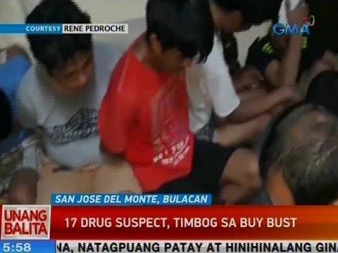 [GMA]  UB: 17 drug suspect, timbog sa buy-bust sa SJDM, Bulacan