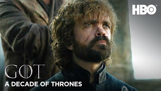A Decade of Game of Thrones | Peter Dinklage on Tyrion Lannister (HBO)