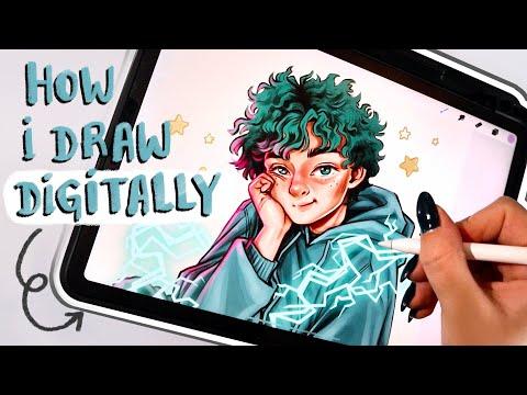 Full Digital Drawing Process // Procreate Tutorial