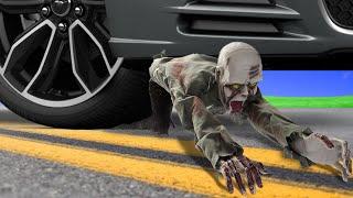 Crushing Crunchy & Soft Halloween Things by Car